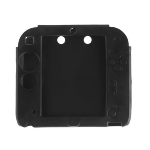Protective Soft Silicone Rubber Gel Skin Case Cover for Nintendo 2ds Black by yuyikesGames&Accessories