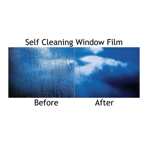 Self Adhesive Self Cleaning Easy Clean Window Protection Glass Film Kit