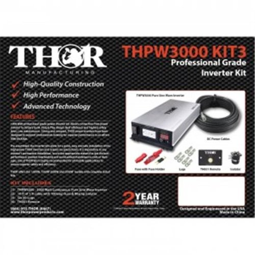 Thor THPW3000 KIT3 10 ft. of 3-0 Cable Remote with 300 amp Fuse & 500 amp Isolator