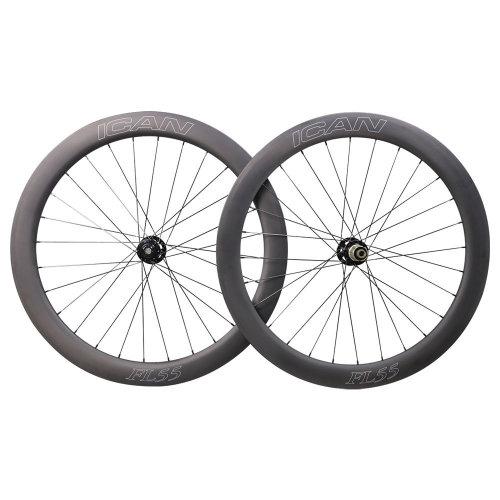 ICAN FL55 Disc Carbon Clincher 6 Bolts Wheels