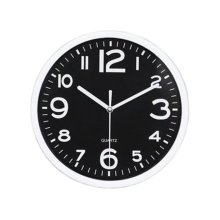 Nordic Wall Decorative Clock Stylish Classic Round Hanging Clocks Non-ticking Creative Black