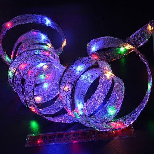Christmas Ribbon Battery Lamp