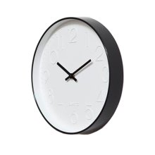 Nordic Decorative Wall Clock Classic Round Hanging Clocks Non-ticking Creative Living Room #1