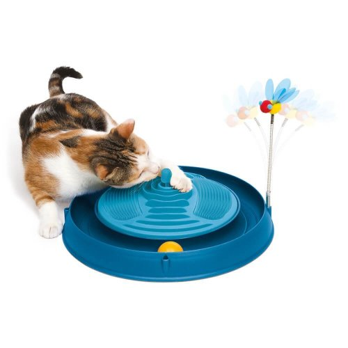 Catit Play Circuit Massager Cat Toy, Blue