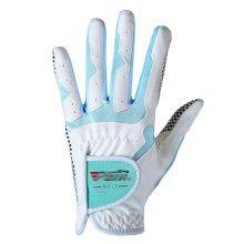 Classic Simple Design Women Golf Gloves Non-slip Sport Gloves(White&Blue) #19