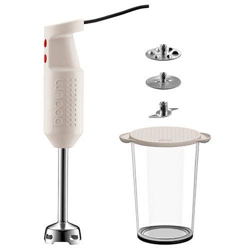 Bodum Bistro Electric Blender Stick with Accessories - White