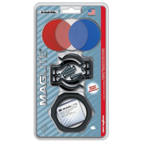 Maglite ASXX376 D Cell Assessory Kit, Plastic, Multi-Colour