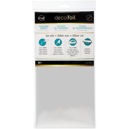 "Deco Foil Transfer Sheets 6""X12"" 20/Pkg-Silver"