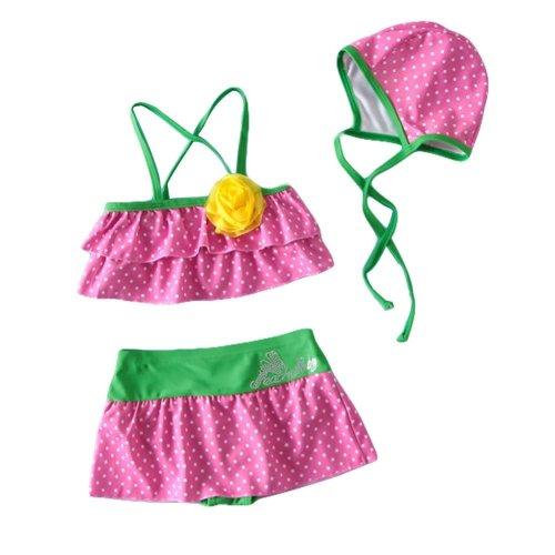 Girl Two-Piece Swimsuit Lovely Girls Swimsuit Girl Bikini, 19-22.5 kg