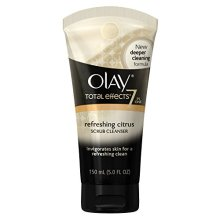 Olay Total Effects Refreshing Citrus Scrub Face Cleanser, 5 Ounce  Packaging may Vary