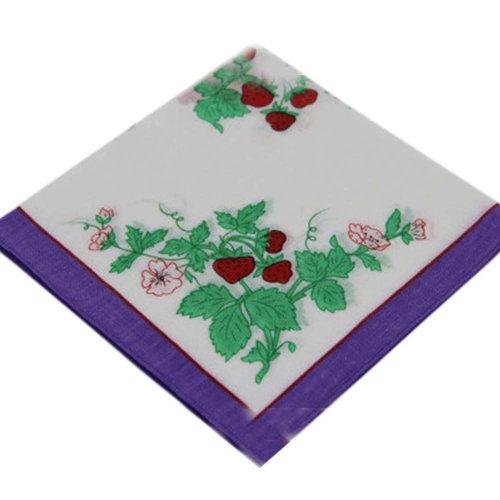 3 Pcs Vintage Handkerchiefs Ladies Pocket Flowers Handkerchief,  #09