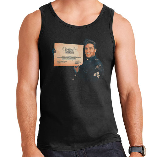 Elvis Presley US Army Certificate Men's Vest