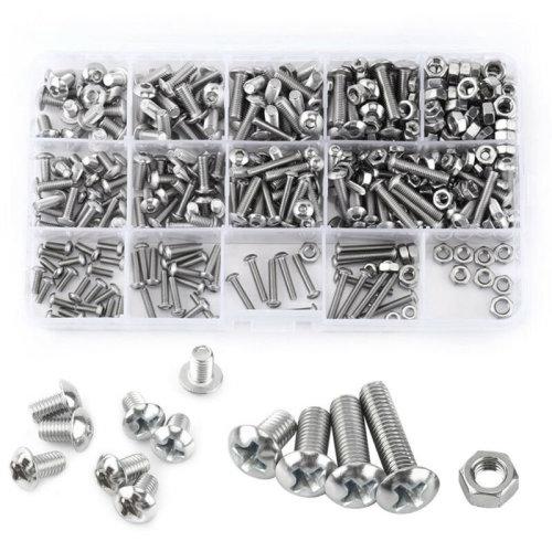 M3/M4/M5/M6 Flat Screw Nut Set Galvanized Cross Head Bolt Nuts Washers New
