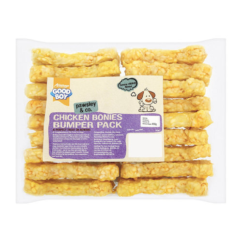 Good Boy Pawsley & Co Chicken Bonies Dog Treats 18 Pack