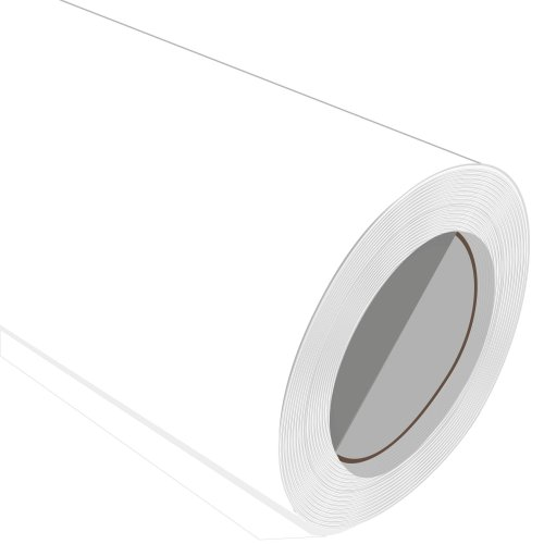 White Iron On Garment Vinyl Roll 610mm 1M 2M 3M 5M 10M