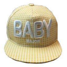 Korean Wave Kids Baseball Cap Hip-Hop Hat Embroidered BABY 3-7 Years(Yellow)