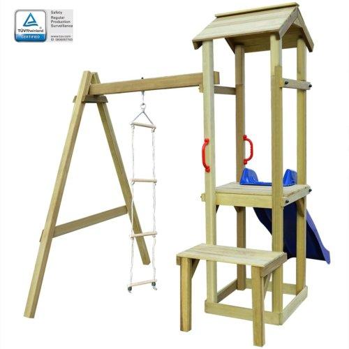 vidaXL Playhouse with Slide Ladder 228x168x218 cm FSC Wood