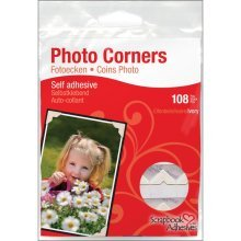 Ivory Pack Of 108 Photo Corners -  photo corners scrapbook adhesives paper selfadhesive 108pkivory