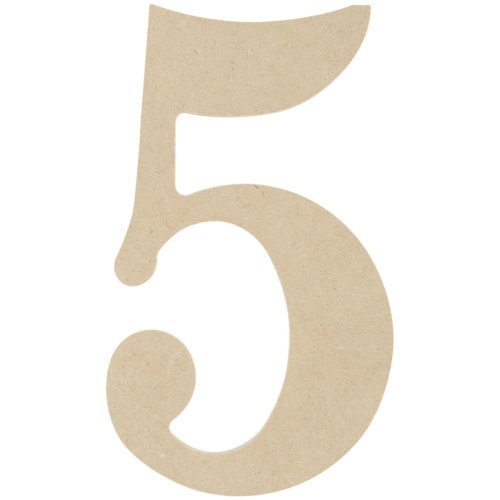 """MDF Classic Font Wood Letters & Numbers 9.5""""-5"""