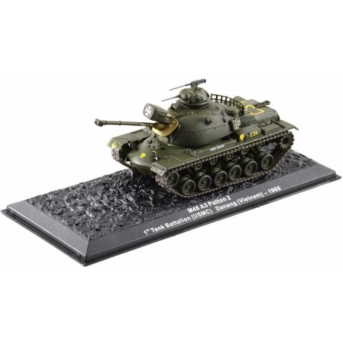 M48 A3 Patton 2 tank 1968 1st Tank Battalion USMC 1-72 scale