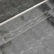 vidaXL Linear Shower Drain 1030x140 mm Stainless Steel