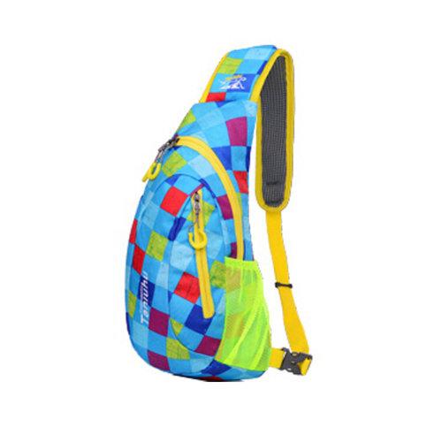 Fashion Lightweight Shoulder Backpack,Traveling,hiking,etc, blue check