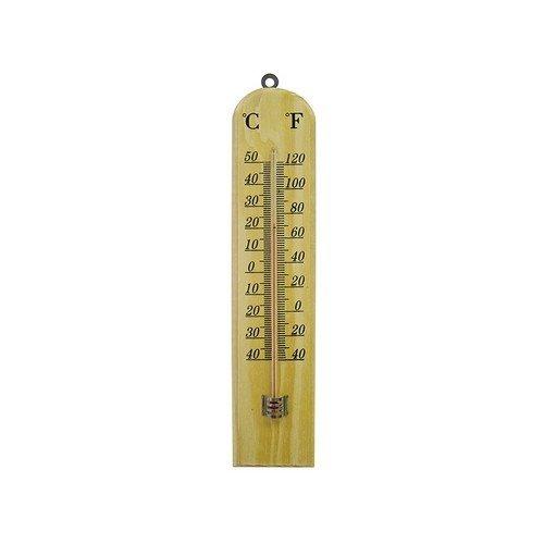 Faithfull FAITHWOODSM Thermometer Wall Wood 260mm