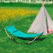 SoBuy® KMB04-B, Outdoor Children Kids Rocking Hammock Sun Lounger, Blue