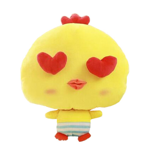 Lovely Chick Cartoon Warm Hands Pillow Soft Plush Doll Toy Throw Pillows Cushion, D