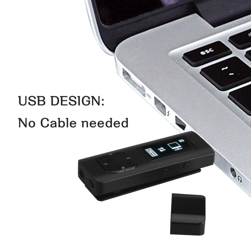 AGPTEK U1 8GB Clip MP3 Player, Metal Lossless Music Player