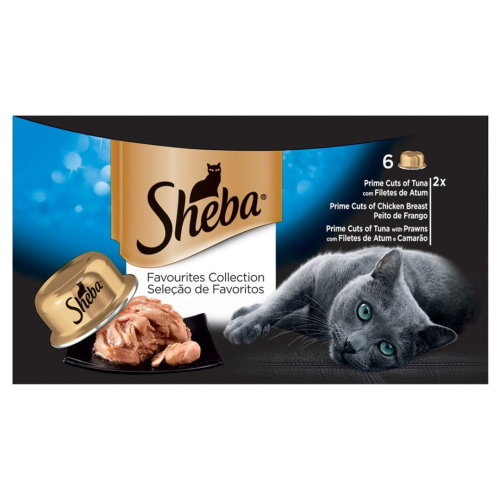 Sheba Tray Favourites Collection In Gravy 6x80g (Pack of 5)
