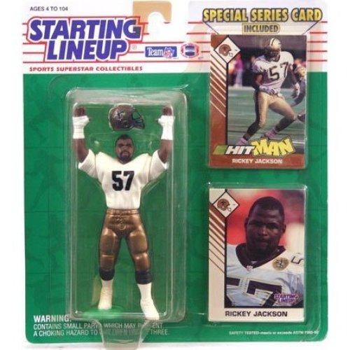 1993 Rickey Jackson New Orleans Saints Kenner SLU Starting Lineup NFL Football Figure