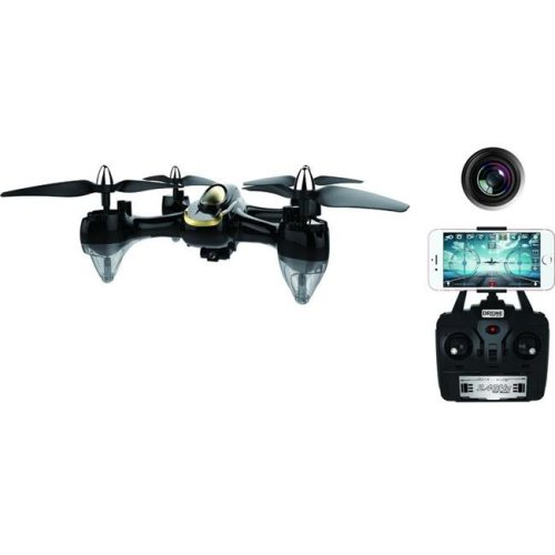 Force Flyers H118W 10 in. 2.4G RC Drone with 0.3MP Wifi FPV Camera 1 Key Return, Black