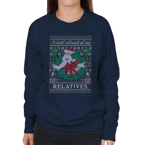 Ghostbusters Relatives Christmas Knit Pattern Women's Sweatshirt