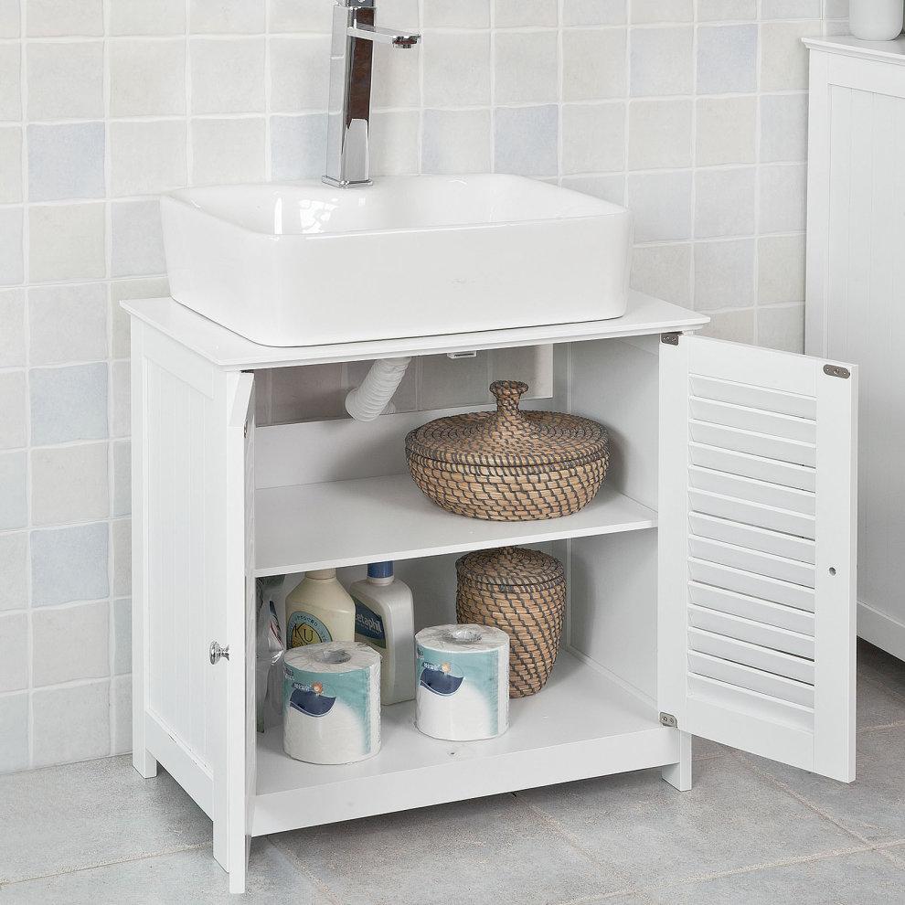 Swell Sobuy Frg237 W Under Sink Bathroom Storage Cabinet Storage Cupboard Download Free Architecture Designs Sospemadebymaigaardcom