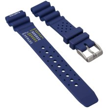 Diver's Watch Strap by ZULUDIVER, NDL Type for Citizen, Blue, 20mm