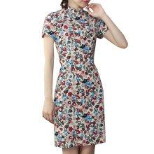 Elegant Chinese Dress Qipao Dresses Cheongsam Women Clothing Skirt XXL-05