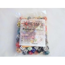 Chessex Pound-o-Dice (Approx 80-100 Assorted Dice)