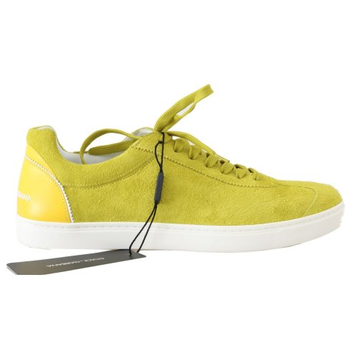 cb4f47dc57 Dolce & Gabbana Yellow Leather Mens Casual Sneakers on OnBuy