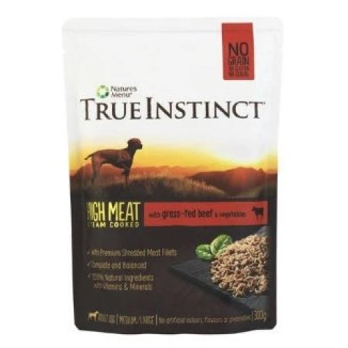 True Instinct Selected Beef Fillets for Medium/Large Breed Adult Dogs, 8 x 300g