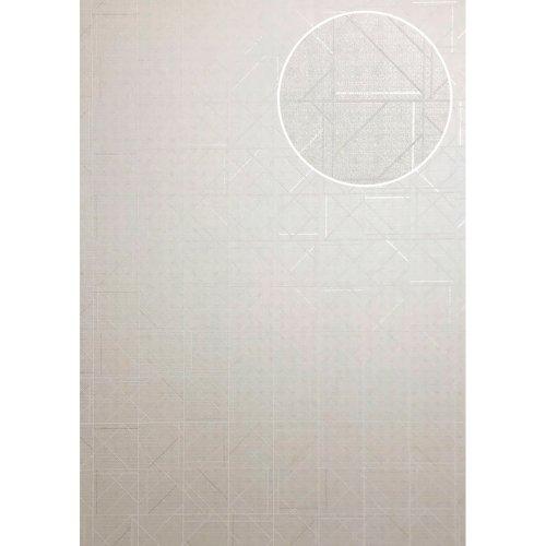 ATLAS XPL-591-2 Graphic wallpaper shiny cream ivory 5.33 sqm
