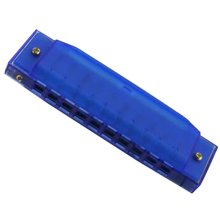 10 Holes Learning Toy Harmonica Wooden Educatial Muscic Toy Blue