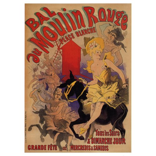 Advertising poster - Bal au Moulin Rouge - High definition printing on stainless steel plate