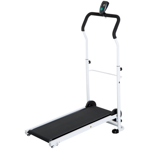 HOMCOM Walking Treadmill Manual Foldable LCD Incline Gym Workout Fitness Cardio Black