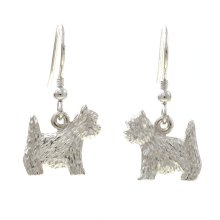 Westies Sterling Silver Drop Earrings