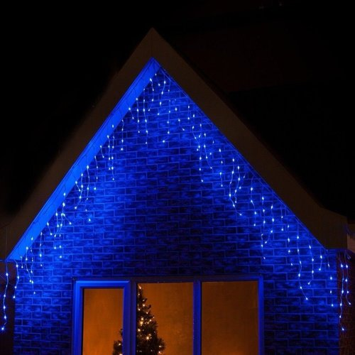 Snowing Christmas Lights.360 Led Blue Christmas Icicle Snowing Xmas Lights Party