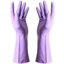 Thin Clean Rubber Gloves To Wash Dishes Waterproof Gloves(Rich Purple)