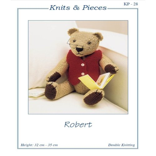 "Knits & Pieces Knitting Pattern - ""Robert"" Teddy Bear - KP - 28"