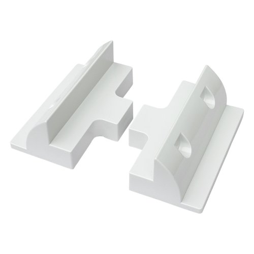 Set of 2 side mounting brackets for fitting solar panels to motorhomes, caravans, campervans, boats, yachts or any other flat roofs or surfaces