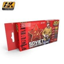Ak03120 - Ak Interactive Set Sovietwwii Uniform Colors Set